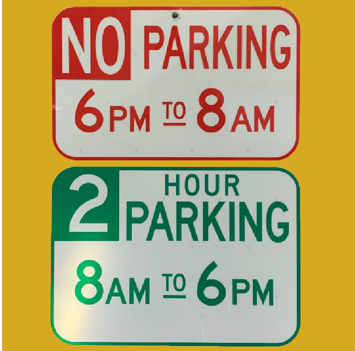 No Parking Before 8am