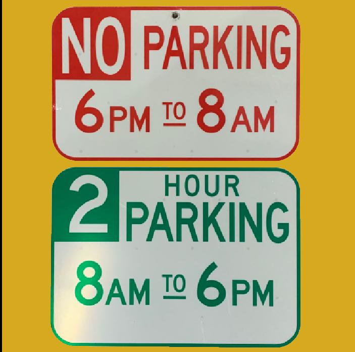No Parking Before 8am